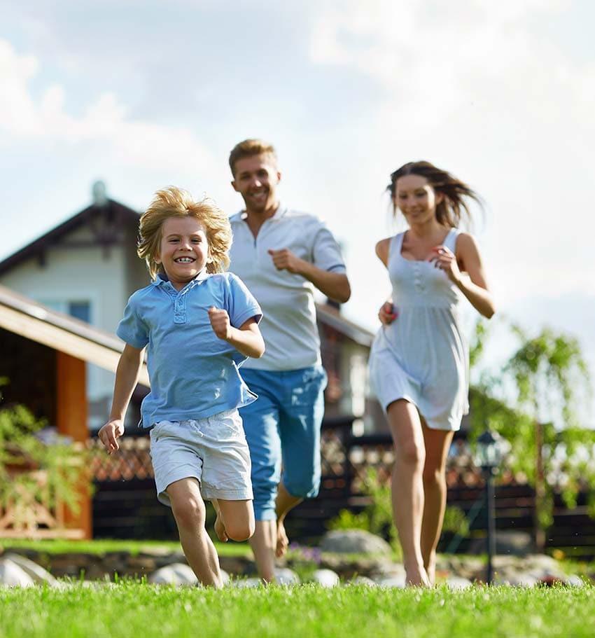 Bei Hausbau Strahlung vermeiden