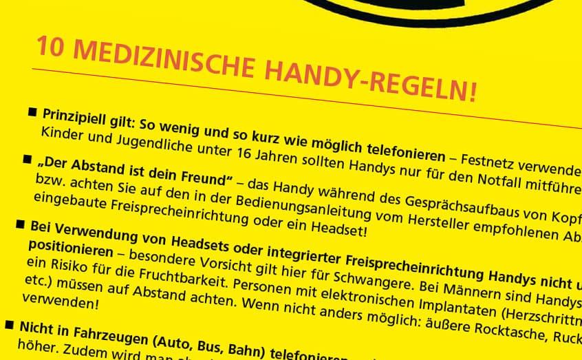 Auszug aus den Handyregeln der Wiener Ärztekammer