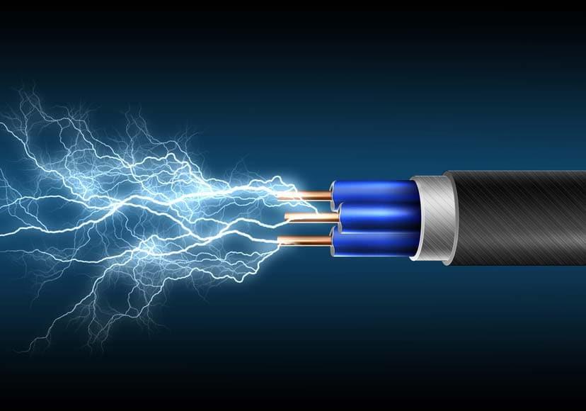 Grafik von elektrischem Kabel