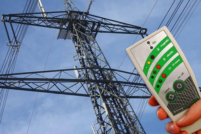 Elektrosmogmessung einer Hochspannungsleitung