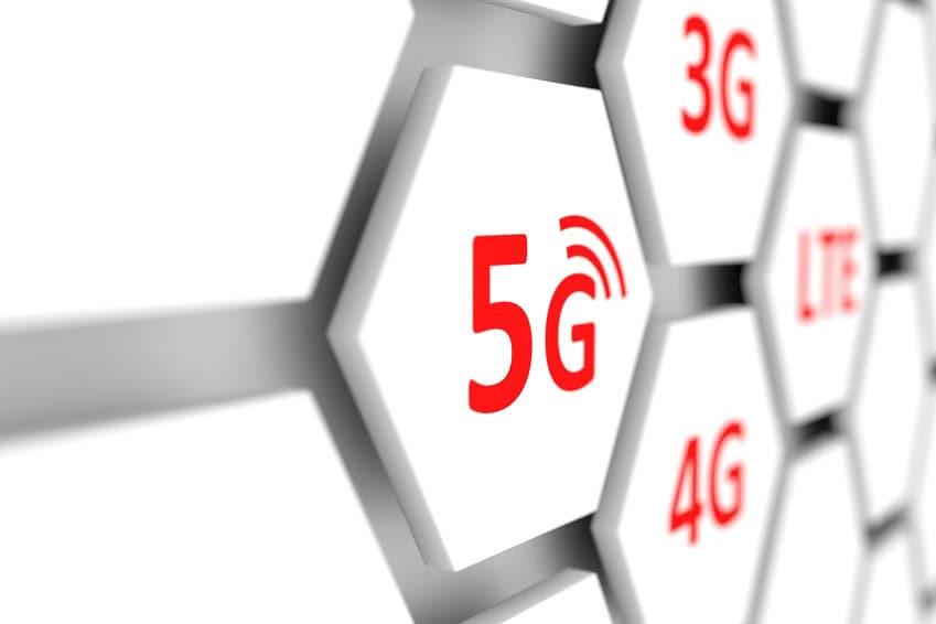 5G und 4G Grafik Mobilfunkstandard