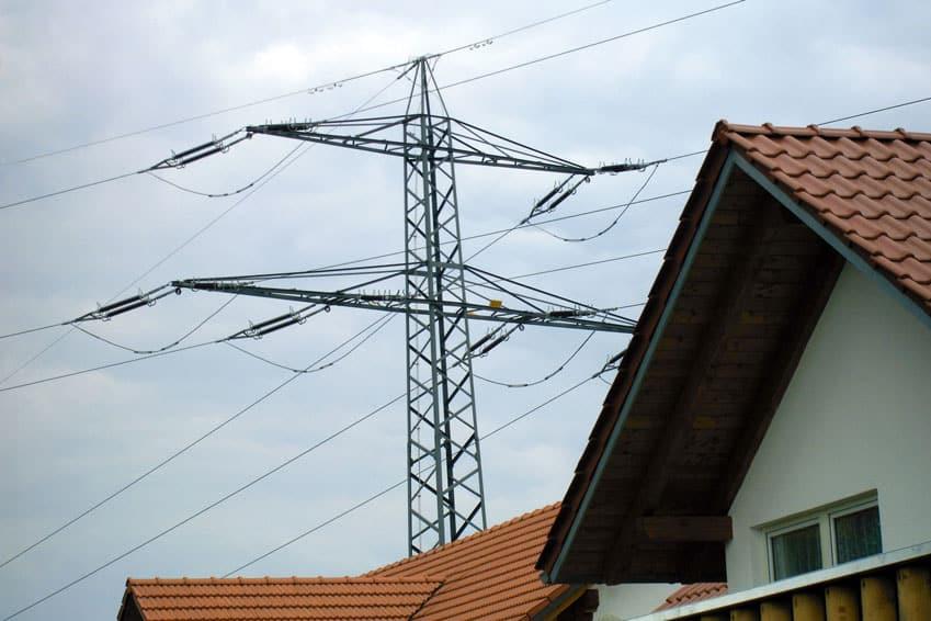 Hochspannungsleitung Strahlenbelastung von Häusern