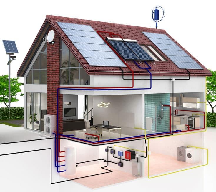 Grafik Elektromagnetismus im Haus und Umgebung