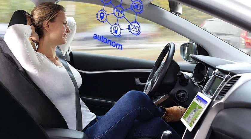 Selbstfahrendes Auto mit 5G-Technologie